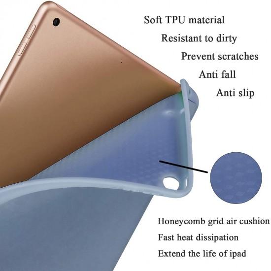 IPad 10.2 11 Pro 2019 2020  7th Pencil Holder Slim Smart TPU Soft Edge Case Purple Color