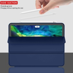 iPad Pro 11 Inch 2020 Soft Tpu Smart Premium Case Auto Sleep Wake Stand Cover Pencil holder navy blue