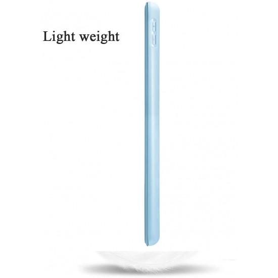 IPad 10.2 2019 7th Pencil Holder Slim Smart TPU Soft Case Light Blue