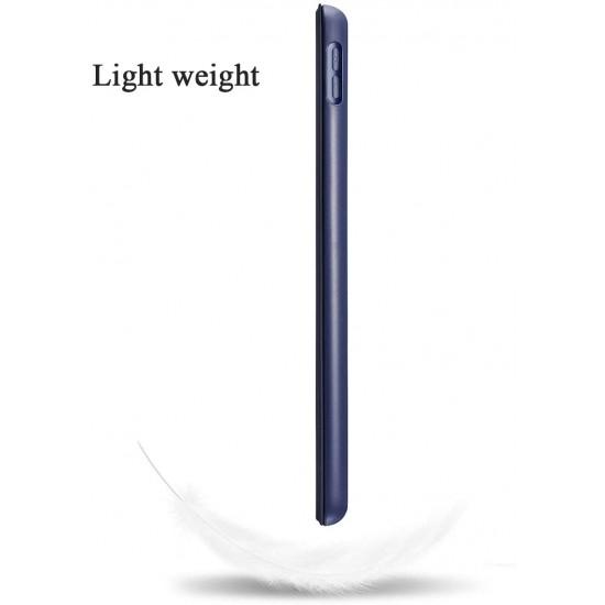 IPad 10.2 2019 7th Pencil Holder Slim Smart TPU Soft Case Navy Blue