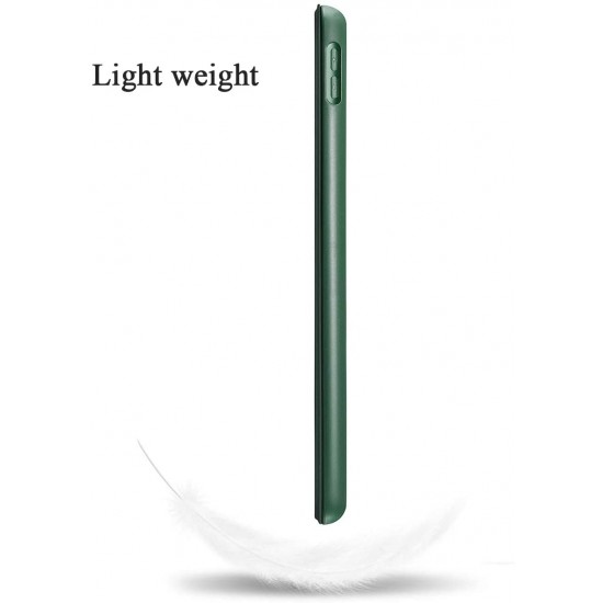IPad 10.2 2019 7th Pencil Holder Slim Smart TPU Soft Case Midnight Green