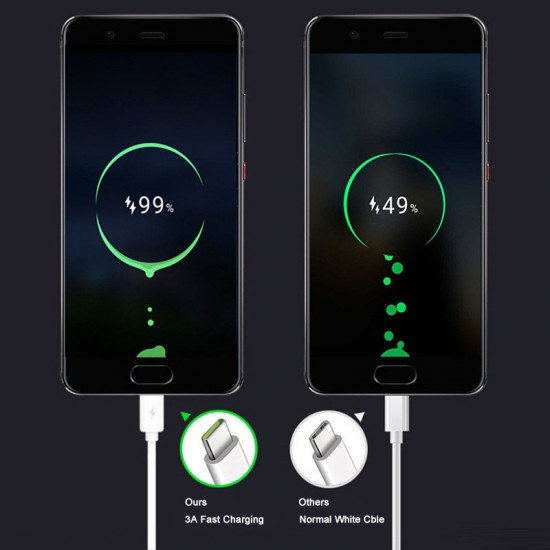 1M 3A USB 2.0 A Male Type c USB C 3.1 Cable Male Power data Fast Charging Cable