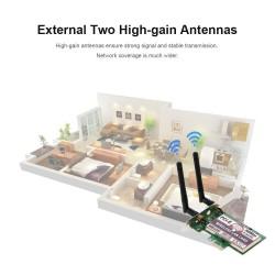 Computer Pc Wireless LAN Card 300M PCI-E Adapter WiFi Card 2.4G/5G