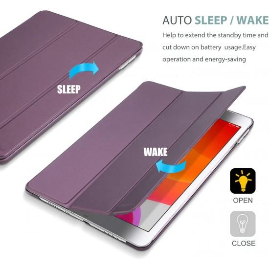 IPad 10.2 2019 7th  Slim Smart Case Cover Purple