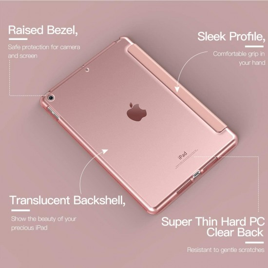 IPad 10.2 2019 7th  Slim Smart Case Cover Pink