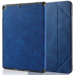 IPad 10.2 2019 7th Pencil Holder Slim Smart TPU PU leather Soft Edge Case Blue
