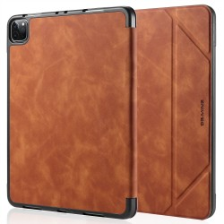 iPad Pro 11 Case 2020/2018 with Pencil Holder Protective Case Cover Soft TPU Brown