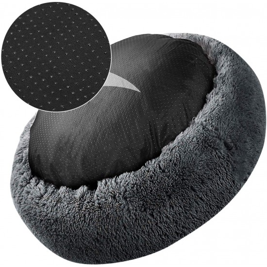 Soft Dog Bed Round Washable Plush Pet Kennel Cat Bed Mat Sofa Small 50cm