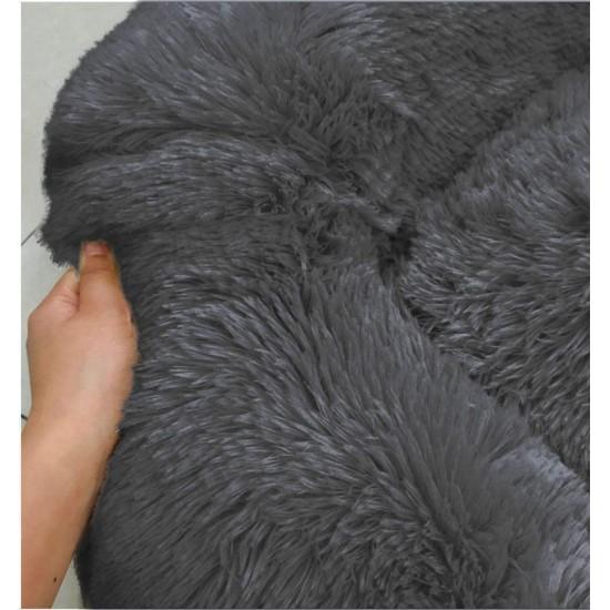 Soft Dog Bed Round Washable Plush Pet Kennel Cat Bed Mat Sofa Medium 60cm