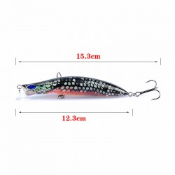 5X Popper Poppers 12.3cm Fishing Lure Lures Surface Tackle Fresh Saltwater