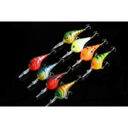 8x 9.5cm Popper Crank Bait Fishing Lure Lures Surface Tackle Saltwater