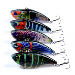5X Popper Poppers Fishing Vib Lure Lures Surface Tackle Fresh Saltwater