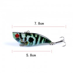 7x Popper Poppers 5.8cm Fishing Lure Lures Surface Tackle Fresh Saltwater