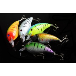 5x 8.5cm Popper Crank Bait Fishing Lure Lures Surface Tackle Saltwater