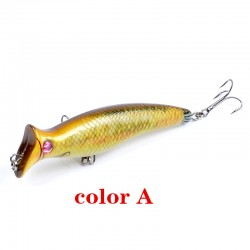 6x Popper Poppers 12.4cm Fishing Lure Lures Surface Tackle Fresh Saltwater