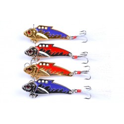 4X 8g Fishing Switchblade Blade VIBE VIB Metal Lures 50mm