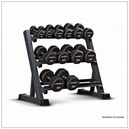 3-Tier Dumbbell Holder Rack Multilevel Weight Storage Organizer for Home Gym