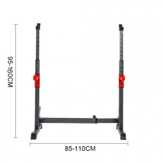 2 x Squat Barbell Pair Rack Bench Home Gym Weight Fitness Lifting Stand