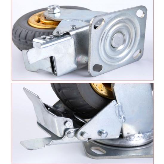 """4x 8"""" 75mm Heavy Duty Industrial Swivel Caster Wheels Castor 1000KG Trolley"""