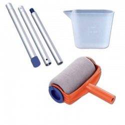 3 pcs Painting Roller Paint Tool Brush Kit Runner Plastic Cup Tube Home