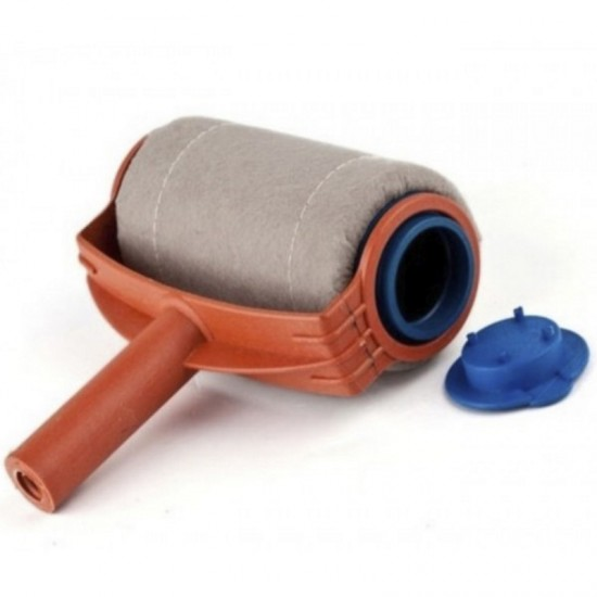 3 pcs Painting Roller Paint Tool Brush Kit Runner Plastic Cup Tube Home