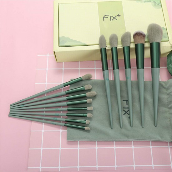13 Pcs Makeup Brushes Sets Synthetic Foundation Blending Concealer Eye Shadow