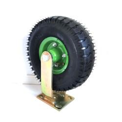 10Inch Fixed Castor Caster Pneumatic Tyres Tyre  Wheel Trolley Cart Wheelbarrow