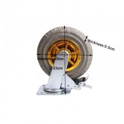 """8"""" Heavy Duty Industrial Brake Swivel Caster Wheel Wheels CastorTrolley holds"""