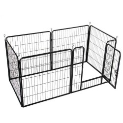 6 Panel Pet Dog Cat Bunny Puppy Play pen Playpen 80x80cm Exercise Cage Dog Panel Fence