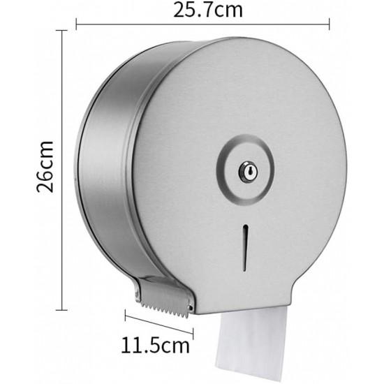 Commercial Restaurant Stainless Steel Toilet Paper Tissue Holder Dispenser Chrome