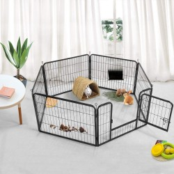 6 Panel Pet Dog Cat Bunny Puppy Play pen Playpen 60x80 cm Exercise Cage Dog Panel Fence