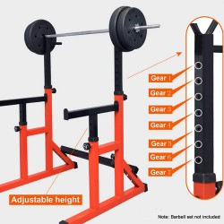 Squat Rack Barbell Rack Dip Station Home Fitness GYM Bench Press Bar Weight Lifting Strength Training