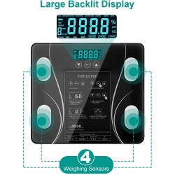 LCD Scales Body Weight Bathroom Bath room Body Fat Gym Fitness Scale BMI BMR