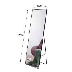 Aluminum Framed Slim Design Full Body Mirror Wall Mounted Bedroom Living Make Up