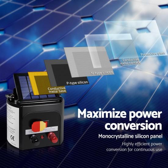 Giantz 8km Solar Power Electric Fence Charger Energiser