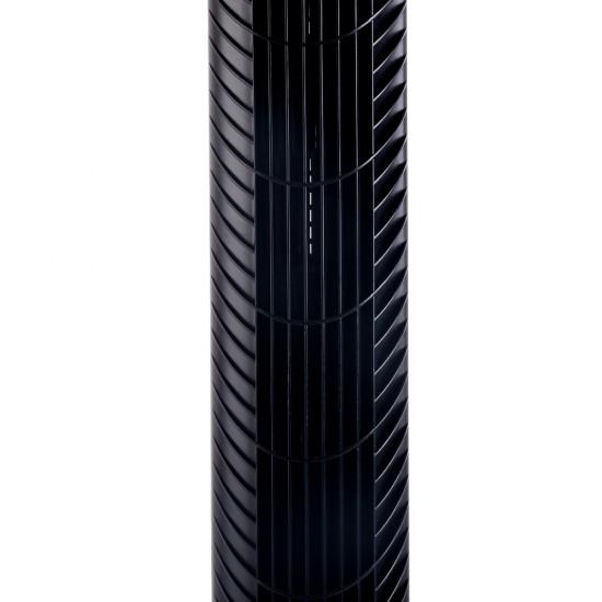 Portable Cross Flow Tower Fan - Black