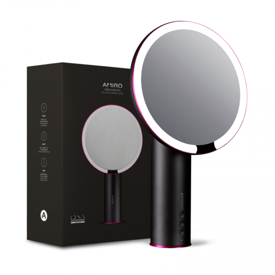 """Amiro 8"""" Smart Lighted Makeup Mirror with Natural Daylight LED Lights Black"""