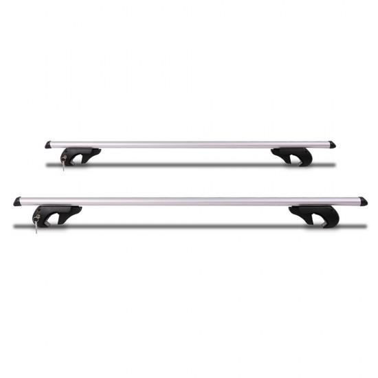 Giantz 1200mm Universal Aluminium Lockable Roof Rack - Silver