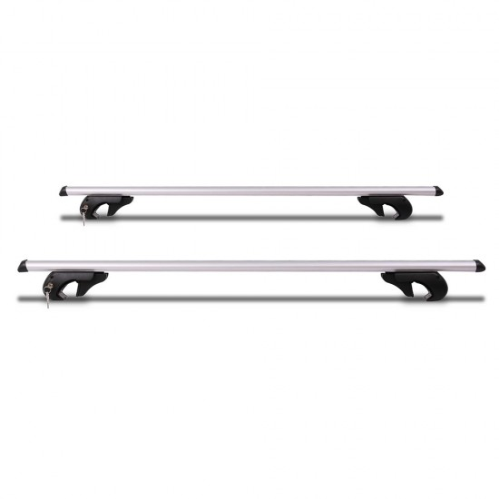 Giantz 1350mm Universal Aluminium Lockable Roof Rack - Silver