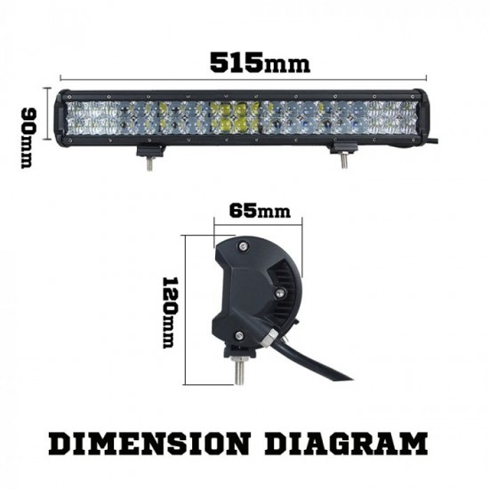 Osram 20inch 294W LED Light Bar 5D Lens SPOT FLOOD Driving 12v 24V
