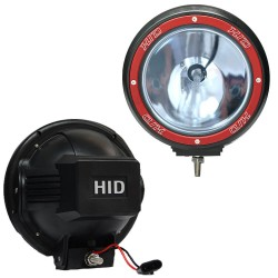 2X 7inch HID 100W Driving Lights XENON Spotlight Offroad Lamp UTE Work Red 4WD