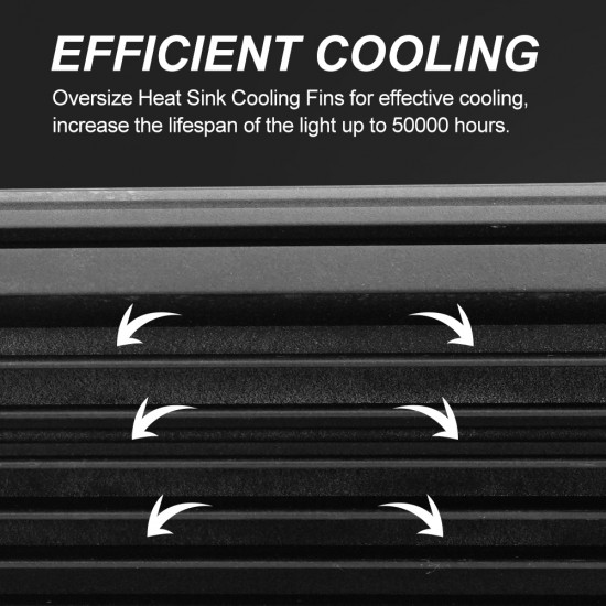 10x 5inch 36w LED Work Light Bar Flood Beam Reverse Driving Lights Offroad 4WD