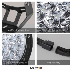 2x 7inch 280w LED Driving Light Spotlight Lightfox EX Series