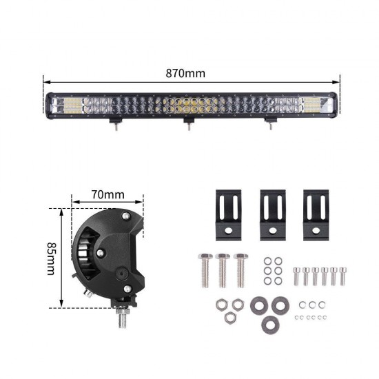 34inch Osram Cree LED Light Bar Triple Combo Driving Lightfox Utility Series