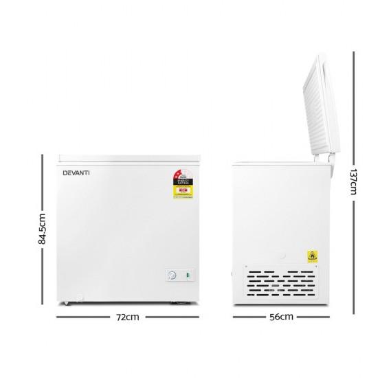 145L Chest Freezer - White