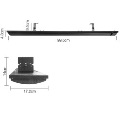 1800W Electric Heater Panel - Black