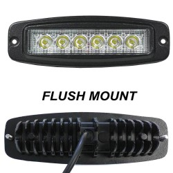 4x 7inch 30W LightFOX CREE LED Light Driving Flood Work Lamp Flush Mount