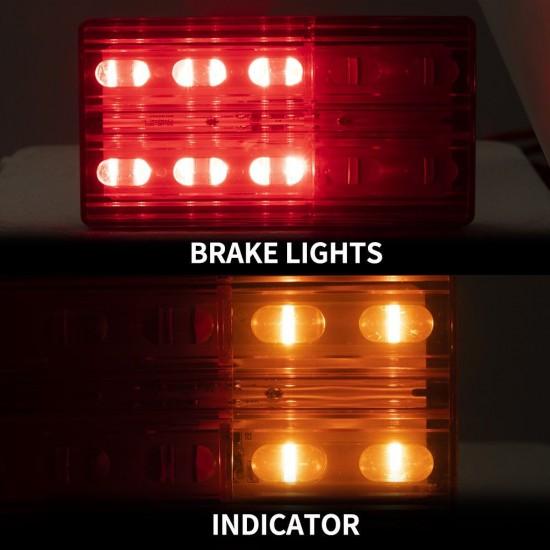 2x LED Tail Lights Indicator & Brake Lights Submersible 12V