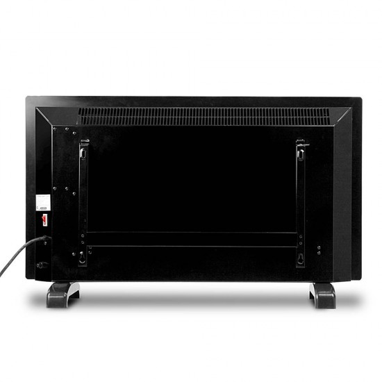 2000W Portable Electric Panel Heater - Black Glass