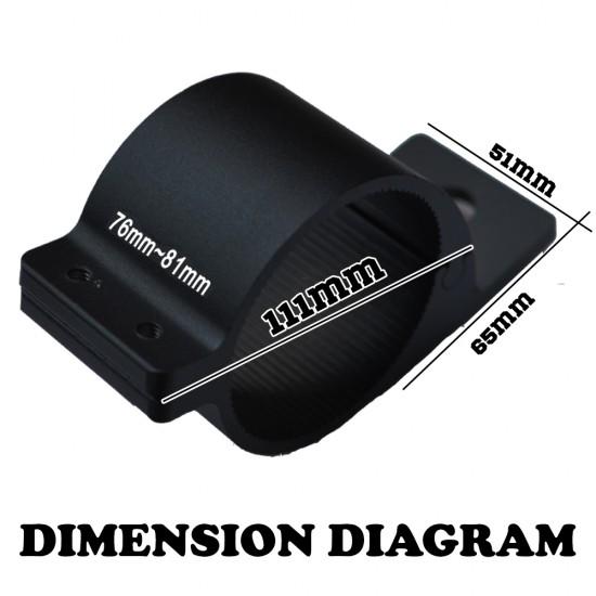 2x 76-81mm Bullbar Mounting Bracket Clamp For LED Light Bar Antenna HID ARB